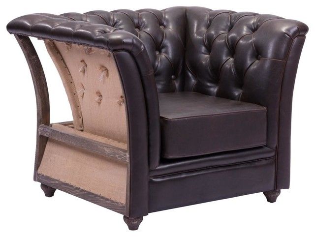 Modern contemporary living room arm chair brown for Traditional armchairs for living room