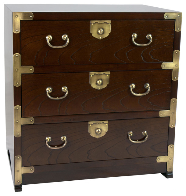 Korean Tansu Style End Table Chest Asian Accent Chests