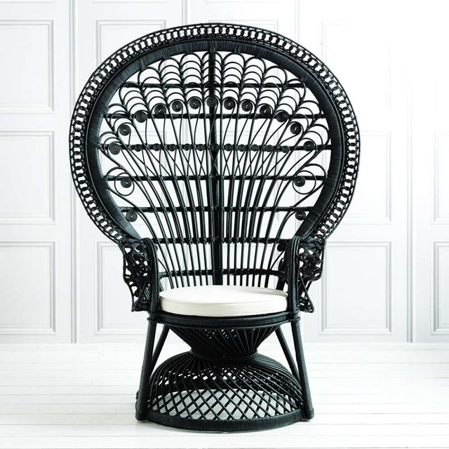 Black Peacock Chair New In Midcentury Armchairs