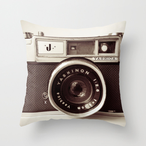 Camera Throw Pillow/Cover - Eclectic - Decorative Pillows - by Society 6
