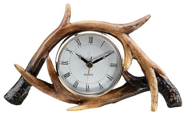 Antler Table Clock Eclectic Clocks Atlanta By Iron