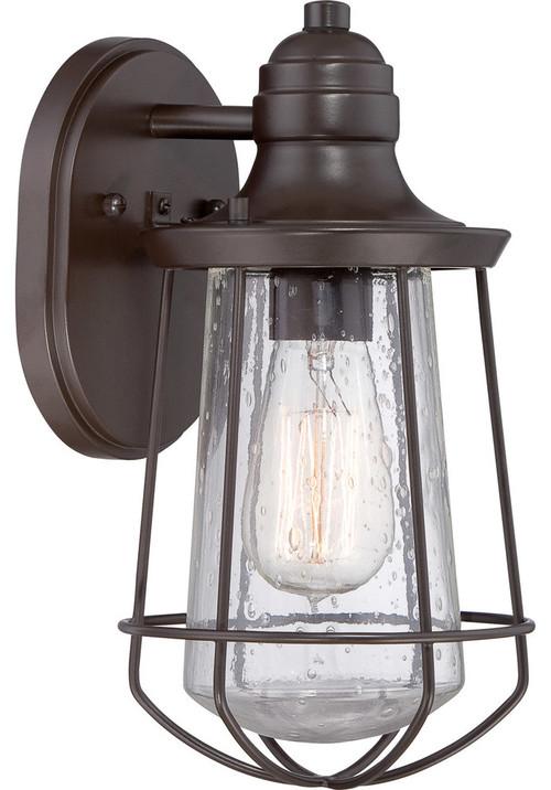 quoizel mre8406wt marine 1 light outdoor wall lights in western bronze. Black Bedroom Furniture Sets. Home Design Ideas