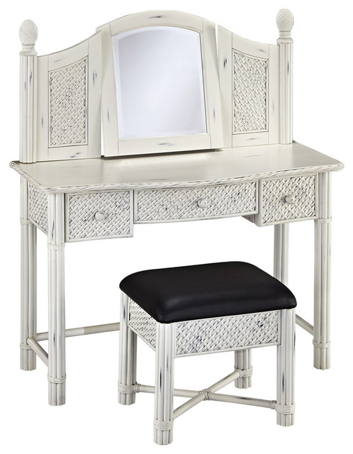 vanity and bench white transitional bedroom makeup vanities