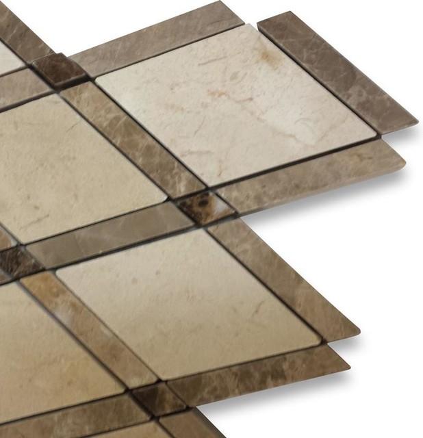 Sample Imperial Woodland Blend Marble Tile Sample
