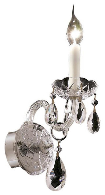 Transitional Chrome Wall Sconces : Elegant Lighting 7829W1C/EC Alexandria 1 Light Wall Sconces in Chrome - Transitional - Wall ...