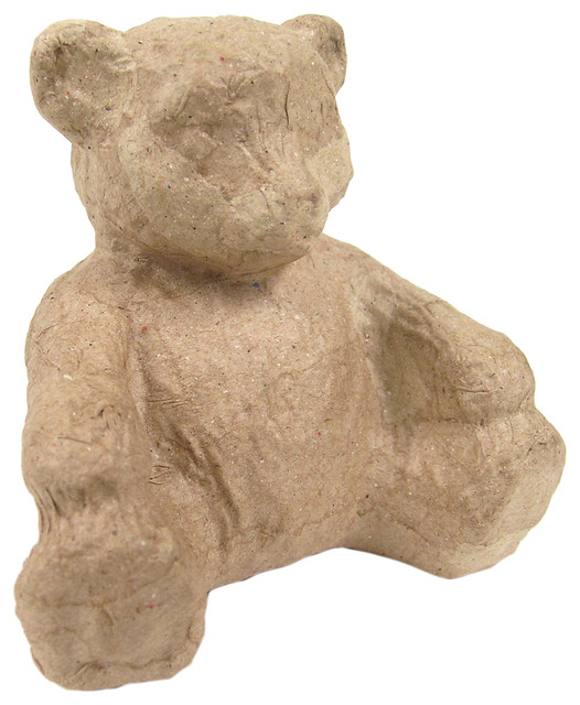 Paper mache figurine bear traditional decorative for Paper mache objects