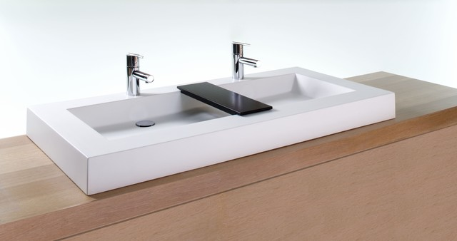 Bathroom Trough Sink Double Faucet : ... Sink With Double Stainless Trough Sinks Bathroom. Cardkeeper.co