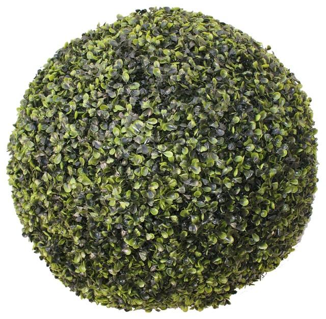 Maxi buis boule de buis artificielle d50cm contemporain for Plante boule artificielle