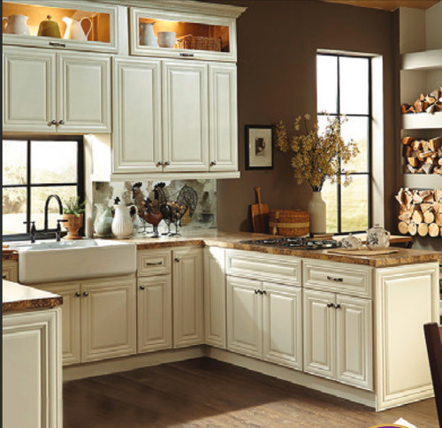 Help ivory kitchen cabinets with white plank ceiling for Kitchen cabinets 60007
