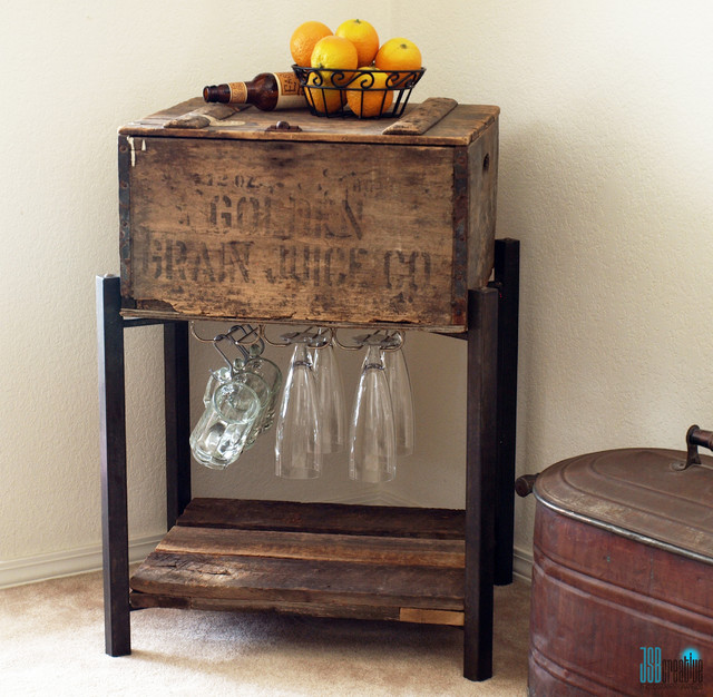 1916 Prohibition Beer Crate Storage Table Side Tables