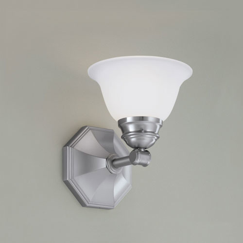 Kathryn Brushed Nickel Single Light Wall Sconce - Modern - Wall Sconces - by Bellacor