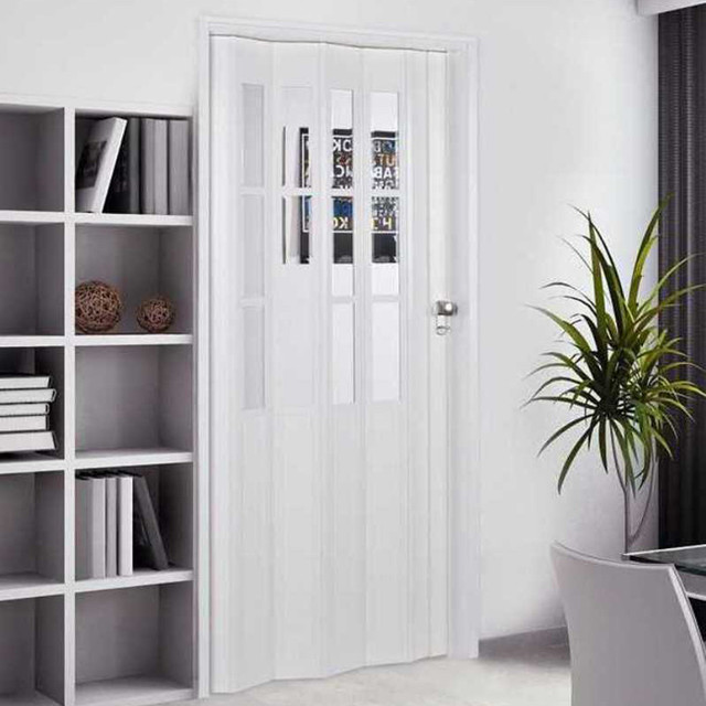 Homestyle Capri 32x80 Inch White Folding Door Contemporary Front Doors By