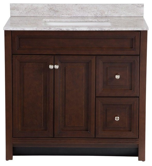 Home Decorators Collection Cabinets Brinkhill 36 In Vanity In Cognac With Contemporary