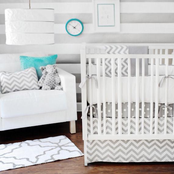 chevron baby bedding 2