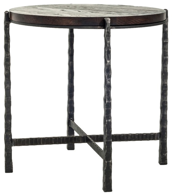 Eclectic Coffee Tables: Nash Round End Table By Charleston Forge