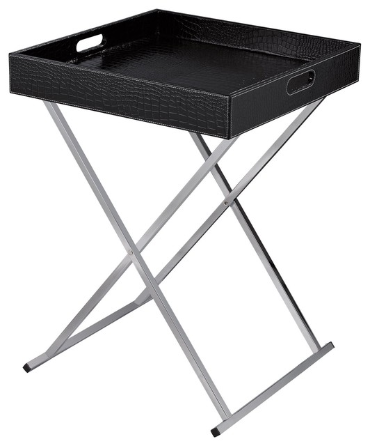 Sterling Industries Sete Tray Table Black Contemporary Tv Trays By Modum Decor
