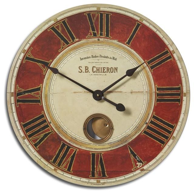 Old world tuscan 23 pendulum clock wall clock modern wall clocks by premier home decor - Contemporary pendulum wall clocks ...