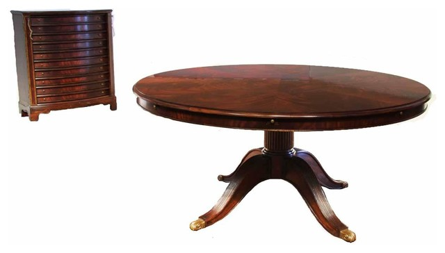 Extra large round mahogany dining table seats 6 to 12 for 12 person kitchen table
