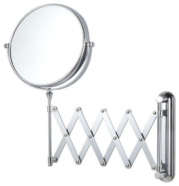 Double Sided Adjustable Arm 3x Makeup Mirror Contemporary Bathroom Mirrors By Thebathoutlet
