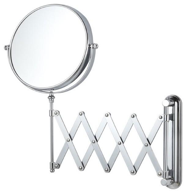 Adjustable Bathroom Wall Mirrors: Double Sided Adjustable Arm 3x Makeup Mirror