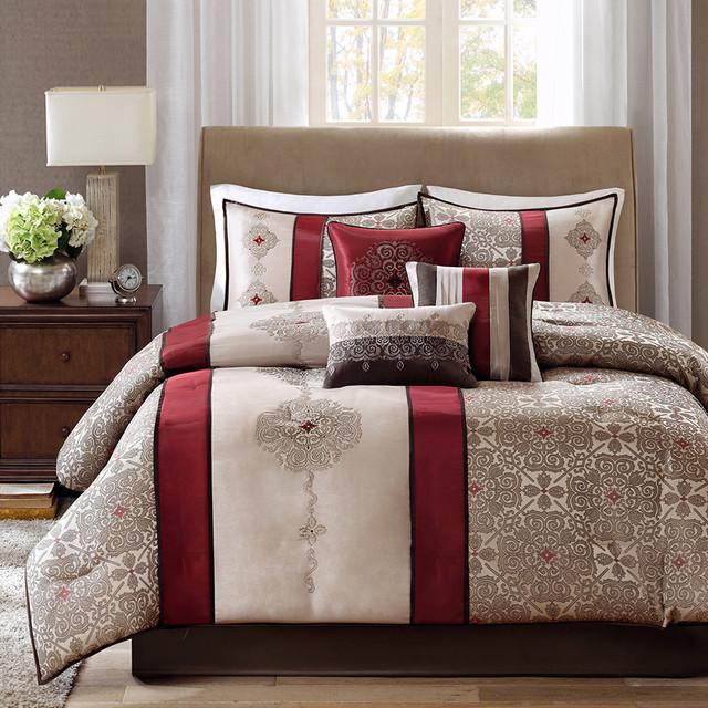 Madison Park Trenton 7 Piece Comforter Set Contemporary