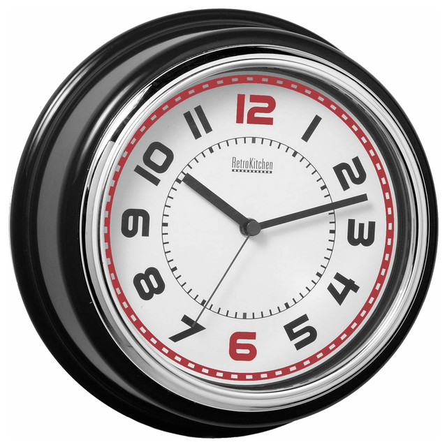 Kitchen Diner Clock Black Contemporary Clocks By