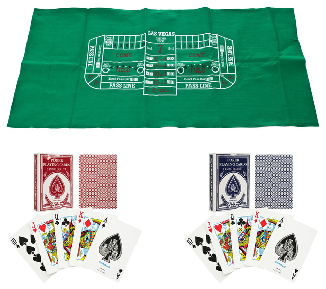 Four card poker table layout