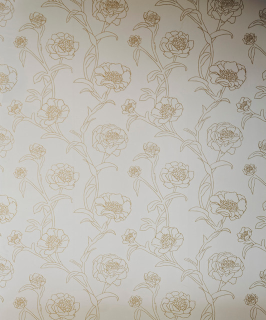 Peonies self adhesive removable wallpaper pearlescent for Metallic removable wallpaper