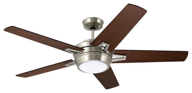 """Emerson Fans Southtowne Brushed Steel 54"""" Ceiling Fan"""