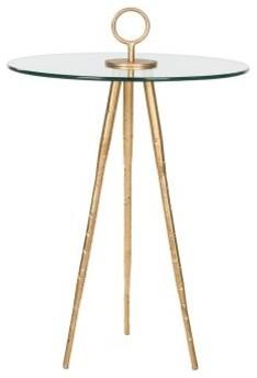 beistelltisch delma eisen gold glas contemporary. Black Bedroom Furniture Sets. Home Design Ideas