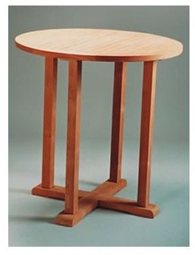 Bahama 39 in Round Bar Table Unfinished Contemporary