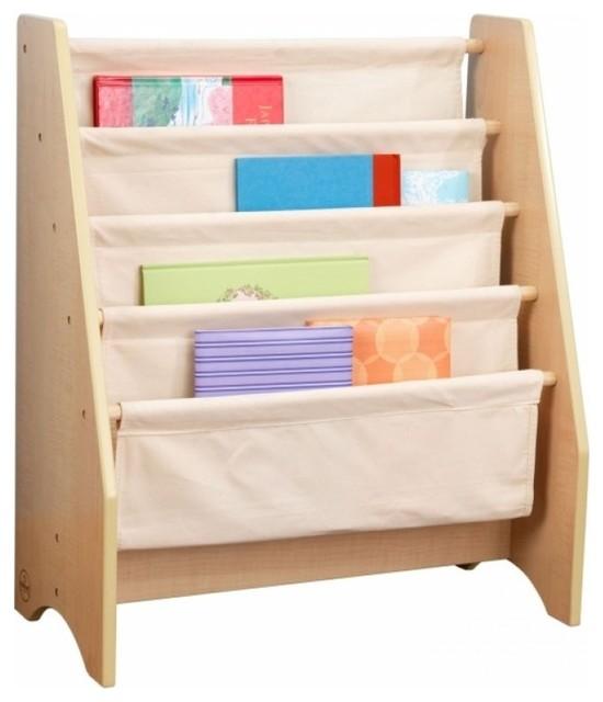 White Sling Bookcase: White Sling Bookshelf