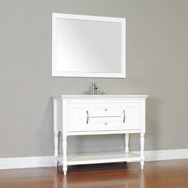 Alya Bath La 209 42 White Single Bathroom Vanity Set