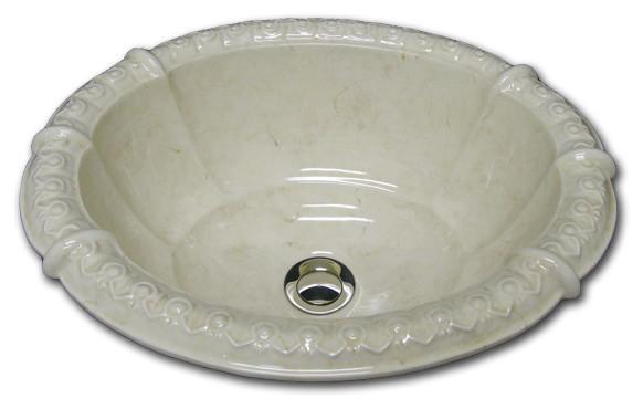 Mediterranean Bathroom Sinks: Marzi's Fluted Sinks