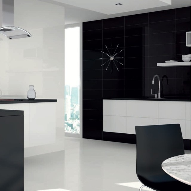 Black Gloss Kitchen Wall Tiles: Black Gloss Wall Tiles For Bathrooms And Kitchens