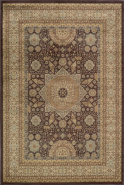 Momeni belmont brown medallion traditional rug by ruglots Belmont carpets and wood flooring