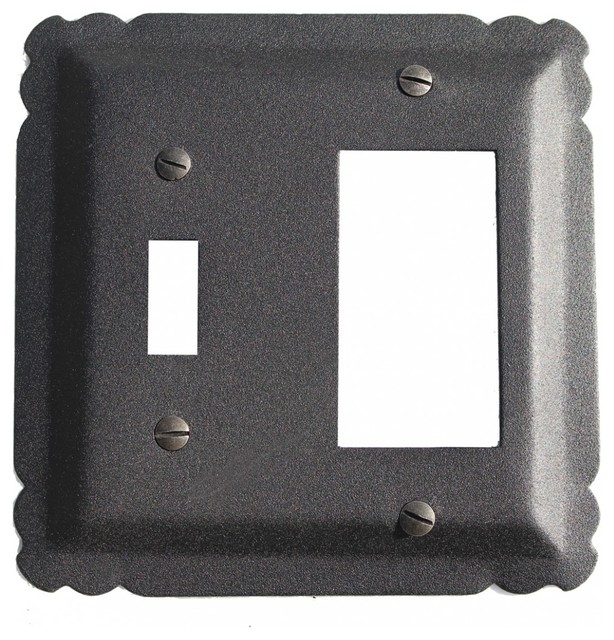 Switchplate black wrought iron gfi toggle 5 1 4 transitional switch plates and outlet - Wrought iron switch plate covers ...