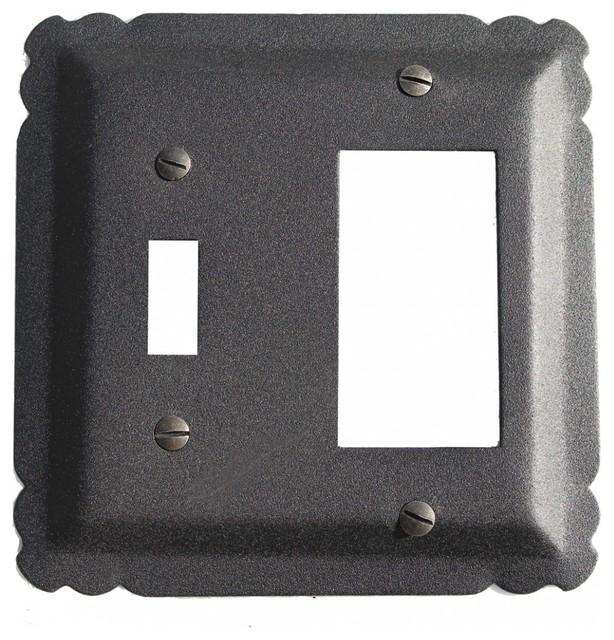Switchplate Black Wrought Iron Gfi Toggle 5 1 4