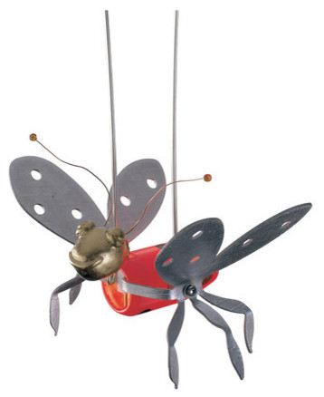 Kdragonfly Ladybug Red Bugs Collection Transitional Track Lighting By Elite Fixtures