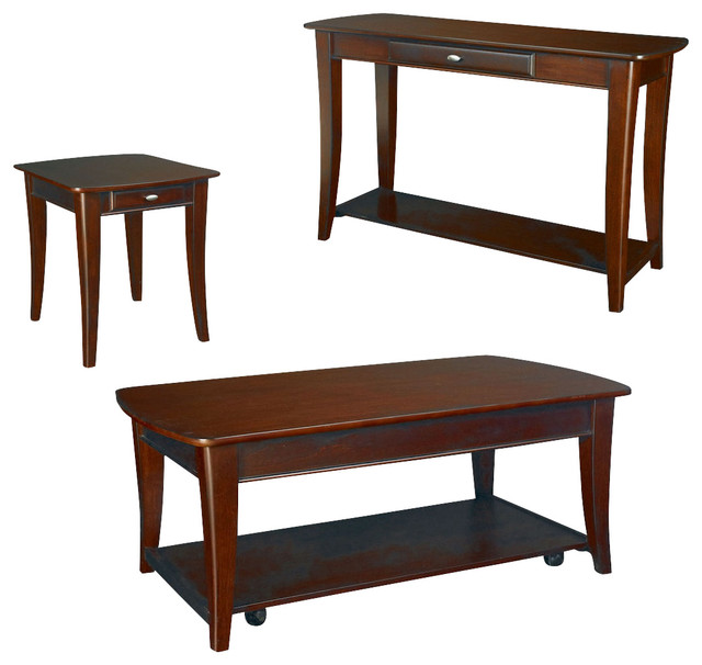 Hammary Enclave 3 Piece Lift Top Cocktail Table Set Traditional Coffee Table Sets By
