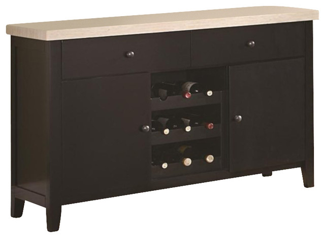 Coaster Anisa Server with Wine Rack - Transitional - Buffets And Sideboards - by Cymax