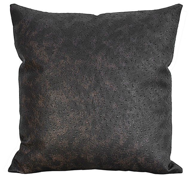 Throw Pillows Faux Leather : Ostrich Faux Leather Decorative Throw Pillow, Merinda-D, 10X16 - Modern - Decorative Pillows ...