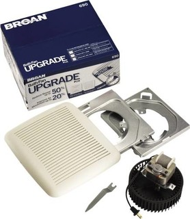 Broan bath fan upgrade kit 60 cfm modern bathroom for 7 bathroom exhaust fan