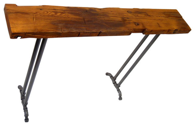 60 console sofa table 7 10 wide hand hewn reclaimed for 60 wide console table