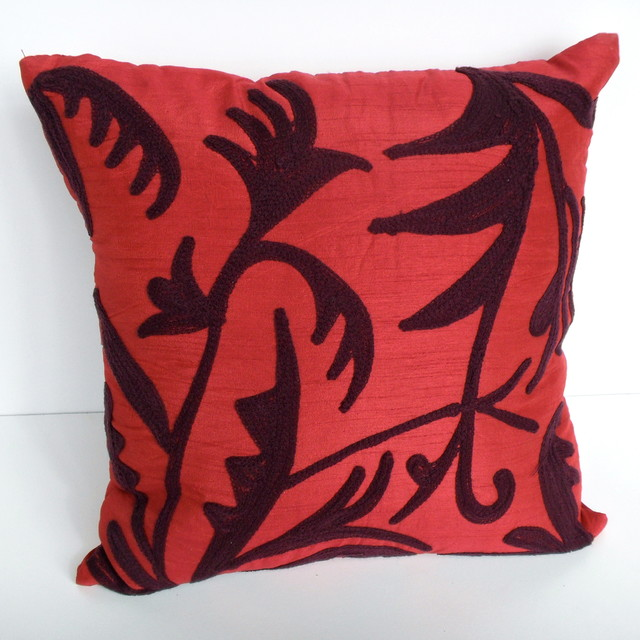 Decorative Pillows Maroon : Maroon Cushions - Contemporary - Decorative Pillows - perth - by ORNO...Redefining Decor