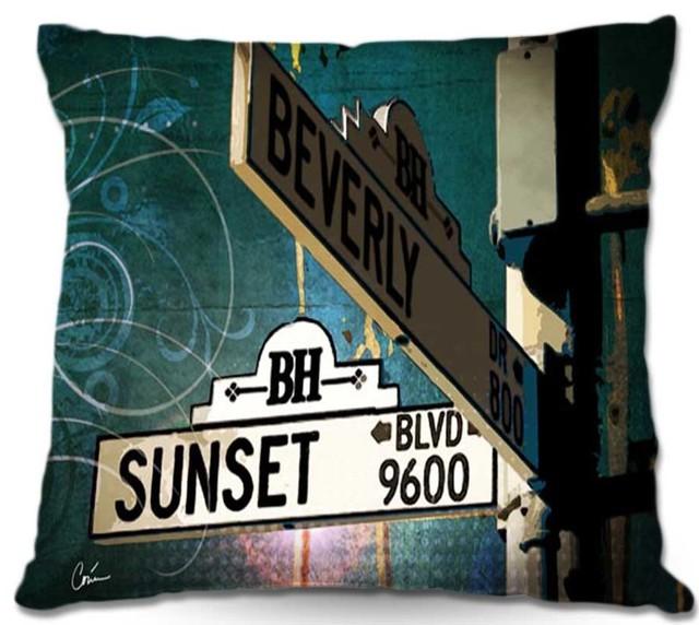 Dianoche throw pillows corina bakkes sunset blvd modern for Wohndeko modern