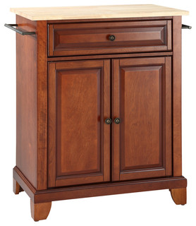 Crosley Kf30021cch Newport Natural Wood Top Portable Kitchen Island Traditional Kitchen
