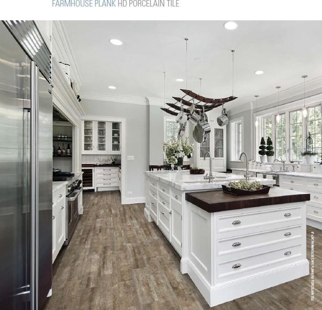 Wood-Look Porcelain Tiles - Rustic - detroit - by World ...
