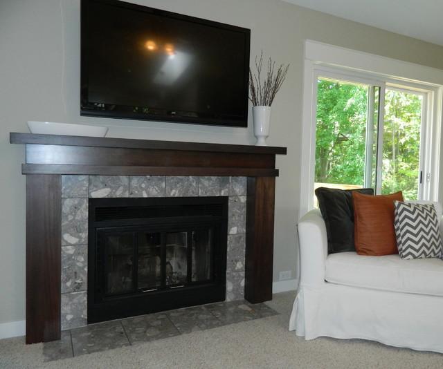 Fireplace Mantel Update