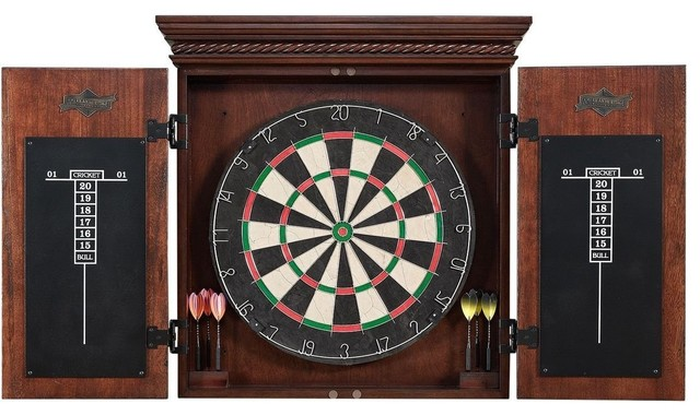 American Heritage Collection Dart Board Set - Traditional - Darts And Dartboards - by Beyond Stores